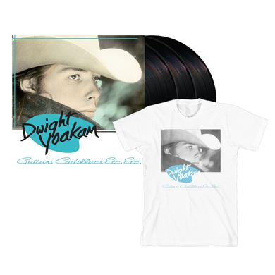 Dwight Yoakam Guitars, Cadillacs, Etc., Etc. (Deluxe Version) 3-LP T-shirt Bundle