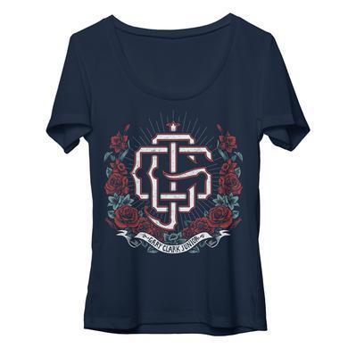 Gary Clark Jr Womens Roses Scoop T-Shirt