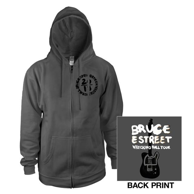 Bruce Springsteen Wrecking Ball Tour Zip-Up Hoodie