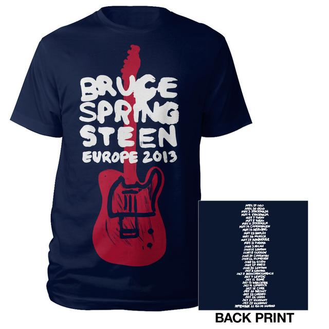 Bruce Springsteen Wrecking Ball Europe Tour Tee