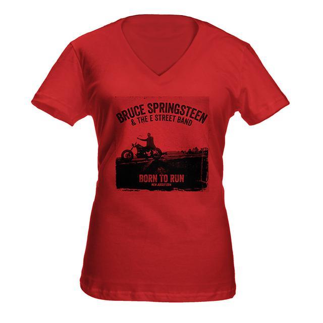 Bruce Springsteen Women's Springsteen Heathered V-Neck