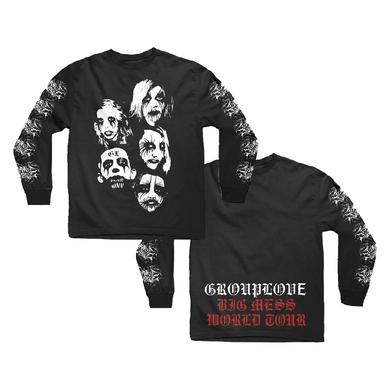 Grouplove Black Metal Crewneck Longsleeve Tee