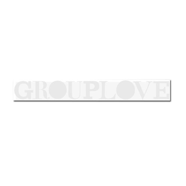 Grouplove Type Sticker (White)