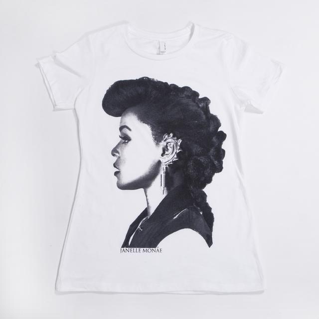 Janelle Monae Profile Juniors T-Shirt