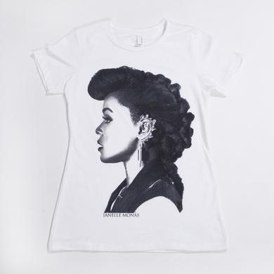 Janelle Monae Profile Juniors T-Shirt