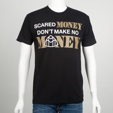 Meek Mill Scared Money Gold Text T-Shirt
