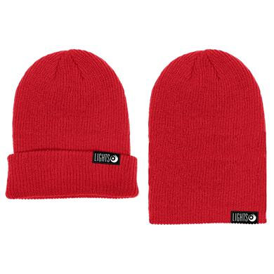 Lights Red Knit Beanie