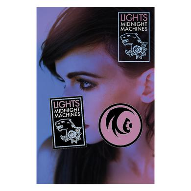 Lights Midnight Machines Enamel Pin Set