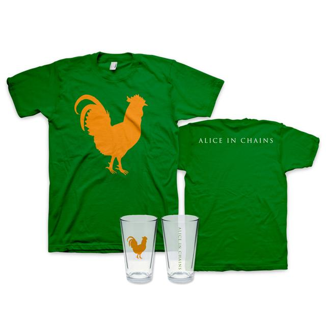 Alice in Chains St. Paddy's Day T-Shirt + Pint Glass Bundle