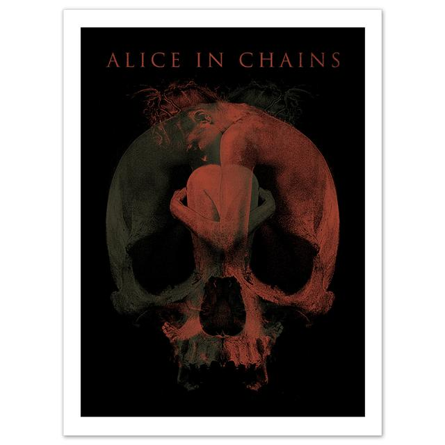 "Alice In Chains Signed Fetal 18""x24"" Litho"