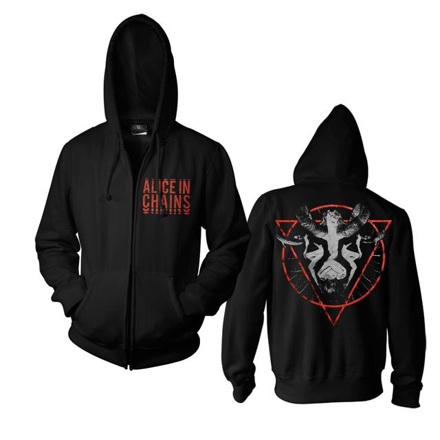 Alice In Chains Horns Zip Hoodie