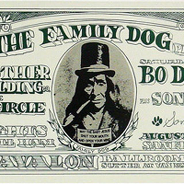 Family Dog Dollar Bill Lithograph