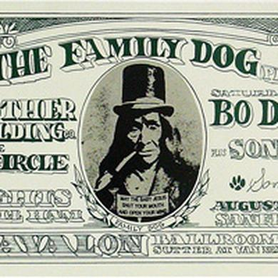 Family Dog Dollar Bill Lithograph