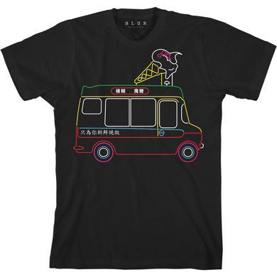 Blur Ice Cream Van Black T-shirt