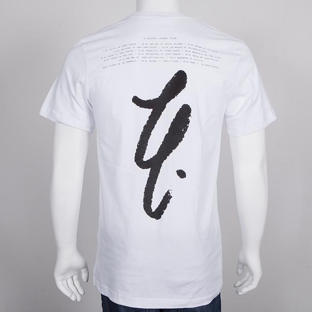 Lykke Li LL Cursive Tour T-Shirt (White)
