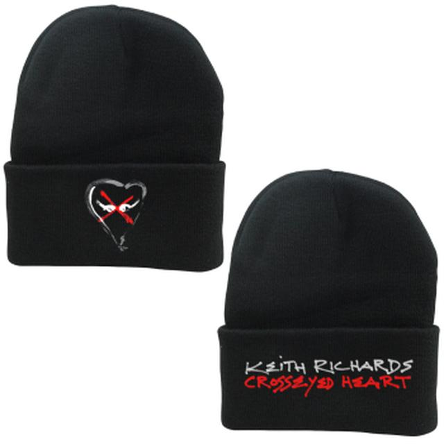 Keith Richards Crosseyed Heart Logo Knit Beanie