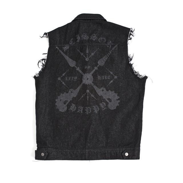 "Lzzy Hale ""Slave No More"" Basic Logo Denim Vest"