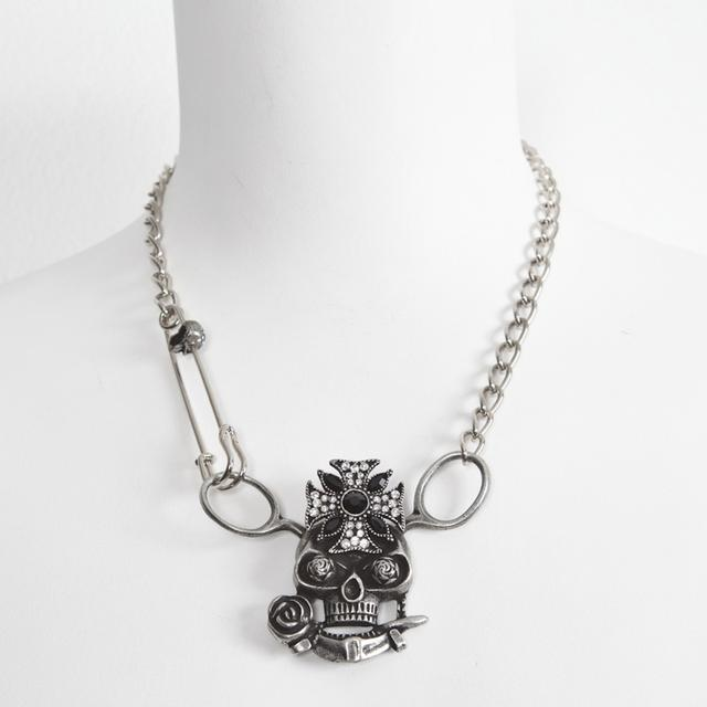 "Lzzy Hale ""We're All Goin' to Hell"" Scissor Skull Necklace"
