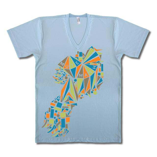 Mutemath Blue V-neck Kite T-Shirt