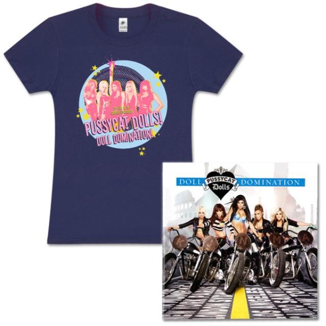 Pussycat Dolls Indigo Shirt and 'Doll Domination' Deluxe CD Bundle