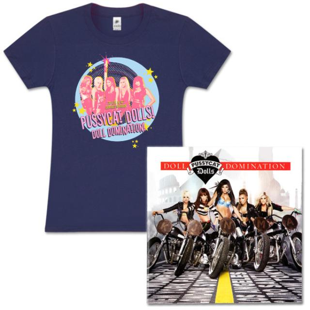 Pussycat Dolls Indigo Shirt and Doll Domination Standard CD Bundle