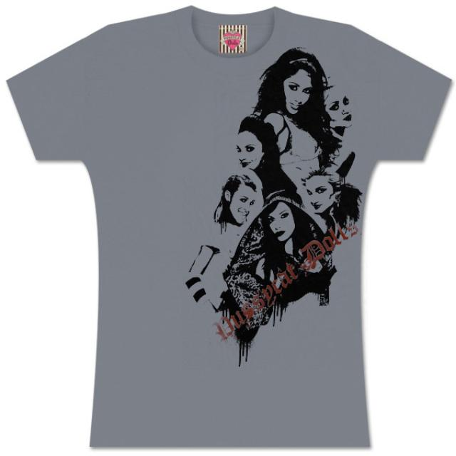 Pussycat Dolls Concrete Photo Ladies Tee