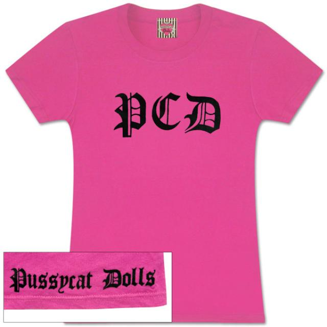 Pussycat dolls Flocked Logo Ladies Tee