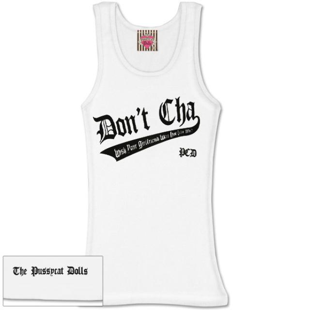 Pussycat Dolls Don't Cha Black Logo Womens Tank
