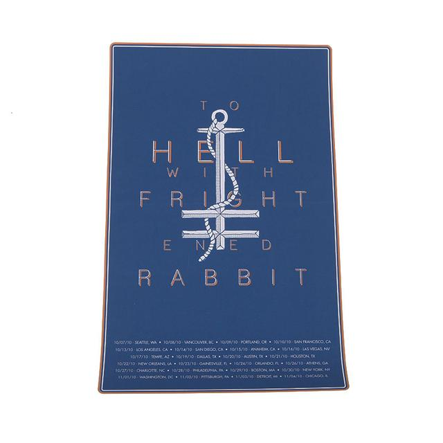 Frightened Rabbit Anchor Silk Screened Poster