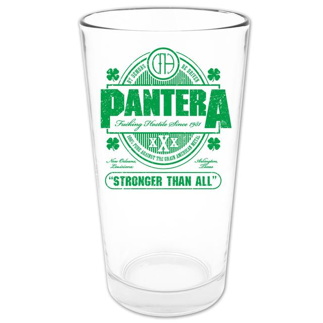 Pantera Stronger Than All Pint Glass