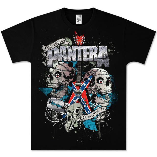 Pantera Texas Skulls T-Shirt