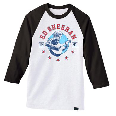 Ed Sheeran Folk Star Baseball Tee