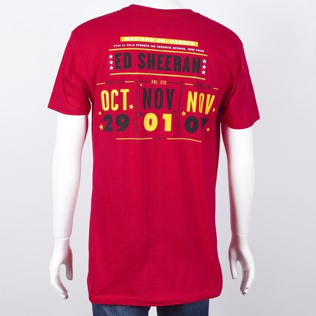 Ed Sheeran MSG Ticket Slim Fit T-Shirt