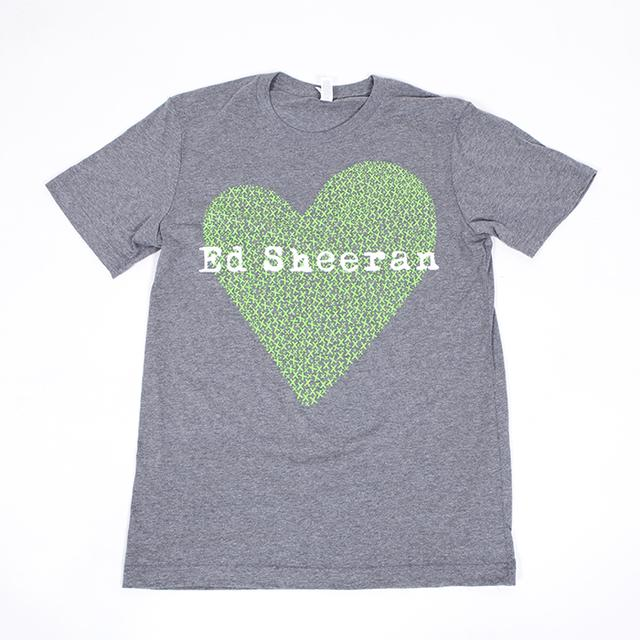 Ed Sheeran X Heart T-Shirt (Grey)