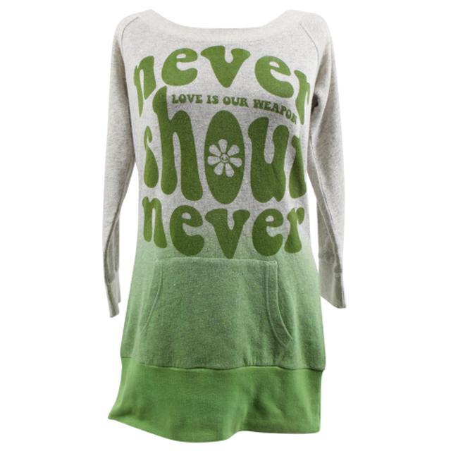 Never Shout Never Daisy Crew Boatneck Sweatshirt