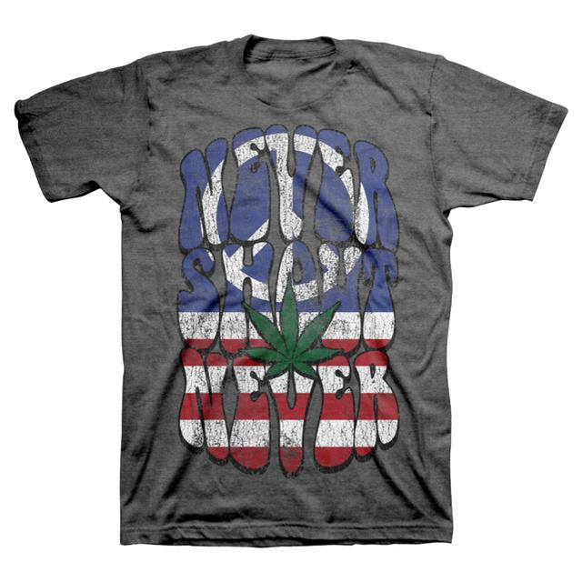 Never Shout Never Peace Pot Flag T-Shirt