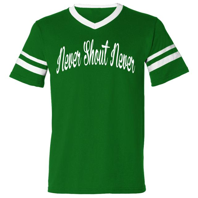 Never Shout Never Football Script T-Shirt