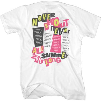 Never Shout Never Punk Kitty 2015 Summer Tour T-Shirt