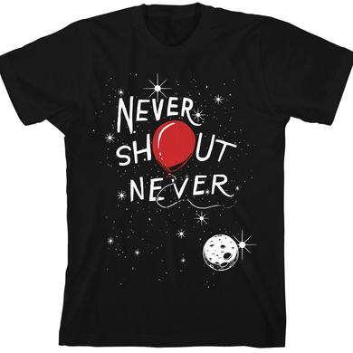 Never Shout Never Red Space Balloon T-Shirt