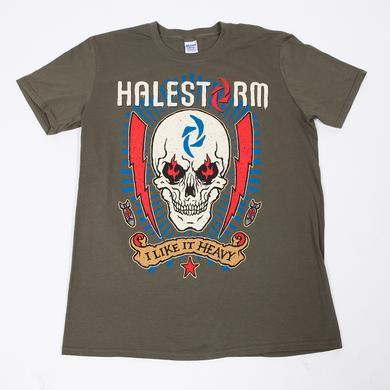 Halestorm Lightning Skull T-Shirt