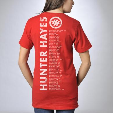 Hunter Hayes Guitar Striped 2013 Tour T-Shirt