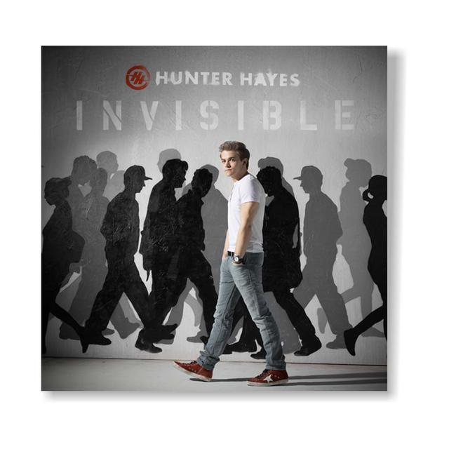 Hunter Hayes Invisible 12x12 Poster