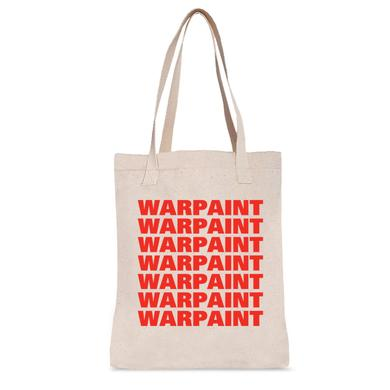 Warpaint Red Logo Tote Bag