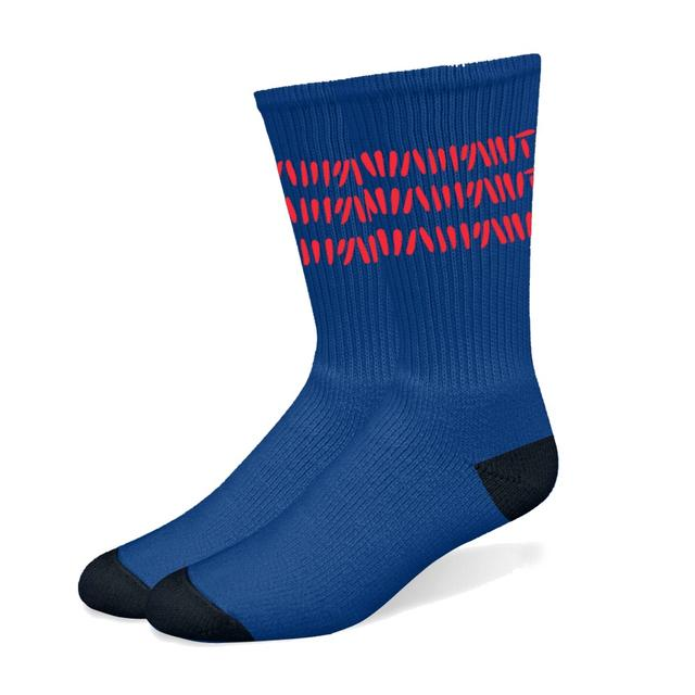 Warpaint Red Stripes Navy Socks