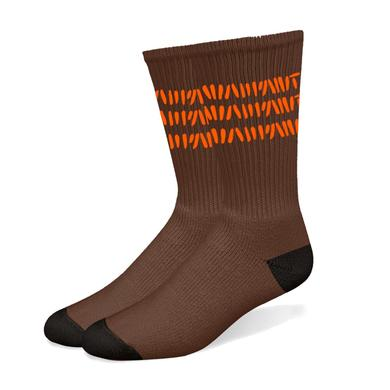 Warpaint Orange Stripes Brown Socks