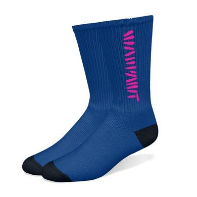 Warpaint Navy/Pink Socks