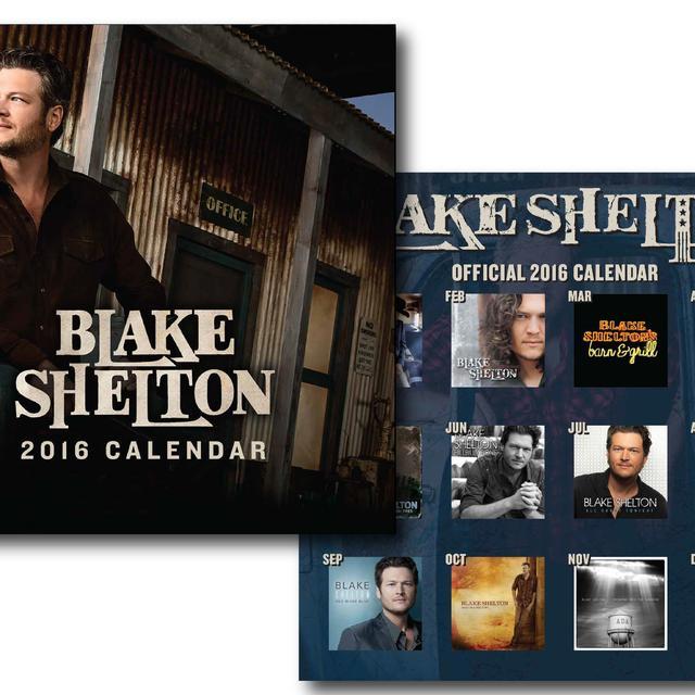 Blake Shelton Hits 2016 Calendar