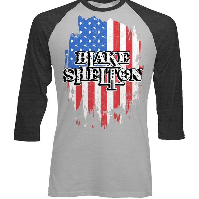 Blake Shelton Flag Baseball T-Shirt