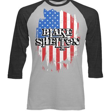 Blake Shelton Flag Baseball T-Shirt