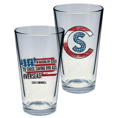 Cole Swindell Patriotic Pint Glass Set